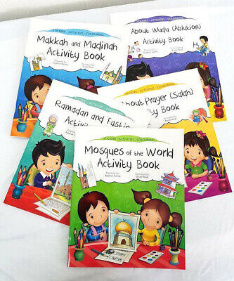 All About Series: Islamic Activity Books -5 Book Set (Kids-Stickers-Colouring)