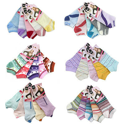 30 Pairs Women Ankle Sport Socks 92 %cotton (Assorted Designs) From Uk