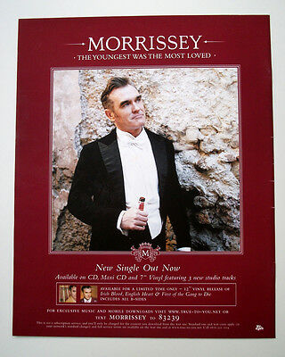 Morrissey - The Youngest Was The Most Loved  - Poster Advert Size 12 X 10 Ins