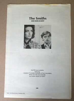 The Smiths - How Soon Is Now  1992 - Nme Advert Poster 16 X 11 Ins
