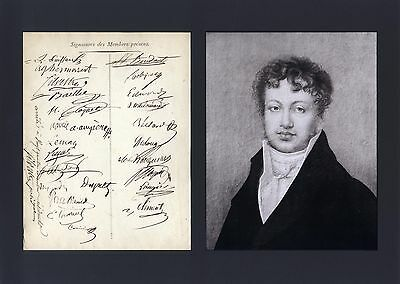 PHYSICIST Andre-Marie Ampere autograph, document signed