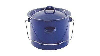 Easy Camp Enamel Campfire / Fire / Stove Cooking Pot with Handle 3L - Camping