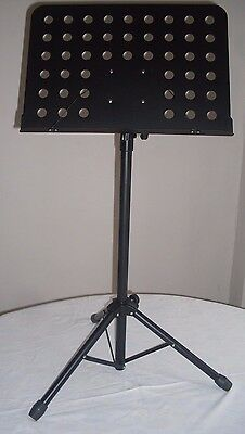 Boston music stand,with sheet holders, metal, black