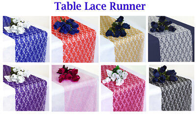 """10 PCS 30cm x 275cm 12""""x108"""" Lace Table Runner For Wedding lace runner Decor"""