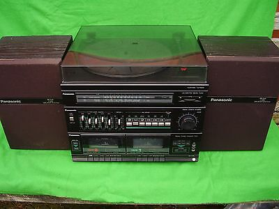 Panasonic Sg-D15L Audio System & Speakers.turntable/graphic/tuner/twin-Tape.