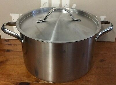 FISSLER Classic Stainless Steel 24cm Stockpot + Lid 6.8L Casserole Cooking Pot