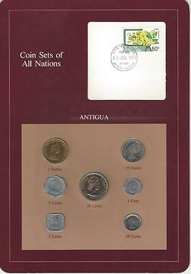 Coin Sets of All Nations, Antigua, 7 coin set