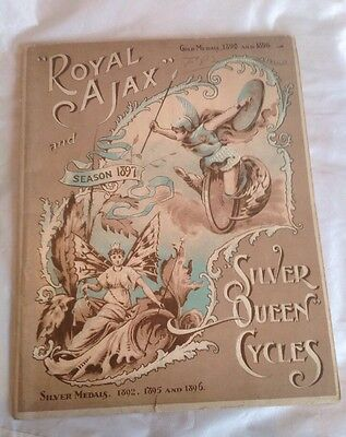 1897 Cycle Catalogue Royal Ajax And Silver Queen Cycles