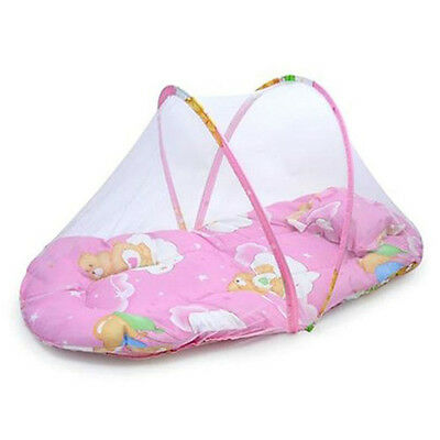Baby Infant Folding Mosquito Net Tent with Pillow Travel Kids Sleeping Bed