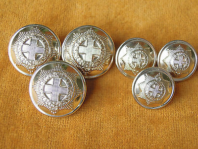 Set of 6 Anodized British Coldstream Guards Uniform Buttons #539
