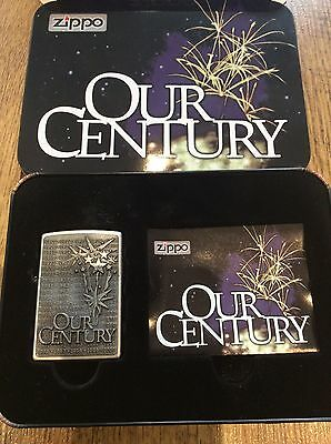 Rare Zippo Lighter - Our Century - Collectible Of The Year - Unused/New - 1999