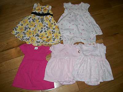 Lot of 3, 6, 9 M Months Baby Girl Spring / Summer Outfits Clothes
