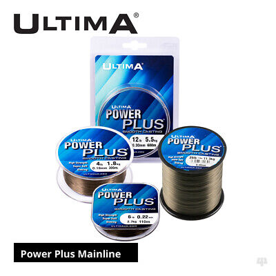 Ultima Power Plus Smooth Casting Mainline - Carp Roach Rudd Coarse Fishing Line