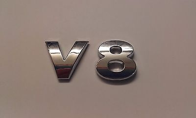 New Chrome 3D Self-adhesive Car Letters badge emblem sticker Spelling V8