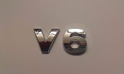 New Chrome 3D Self-adhesive Car Letters badge emblem sticker Spelling V6