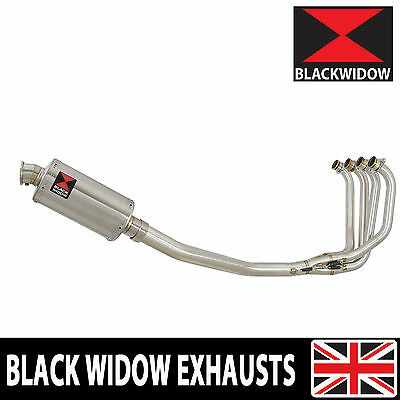 KAWASAKI ZRX 1200 Full Exhaust System 230mm Oval Stainless Silencer 230SS