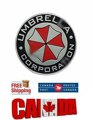 3D Metal Car Motorcycle Badge Chrome Logo Emblem for Umbrella Corporation