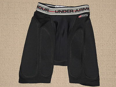 Boys Under Armour MPZ Cup Pocket Padded Compression Shorts Youth Medium YMD