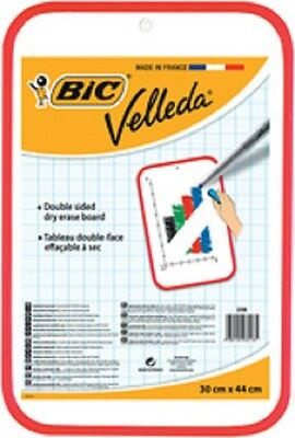 BIC Tableau blanc Velleda, 2 faces, dimensions: 300 x 440 mm