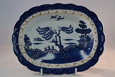 Vintage Booths Real Old Willow Small Pie Dish A8025