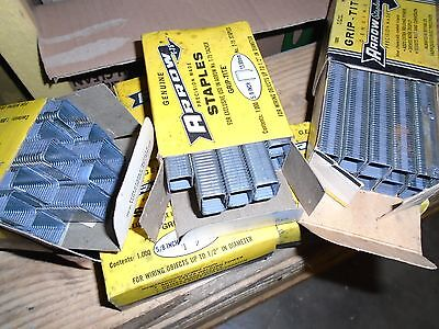 6 boites 1000  agrafes/staples ARROW 9/16 5/8 et 7/8 n° T-75  ancien stock