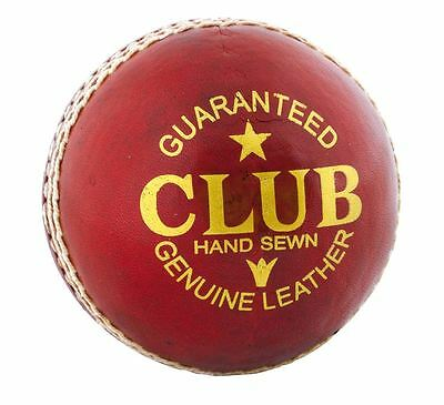 6x Readers Club Leather Red Cricket Balls Size 5.5oz