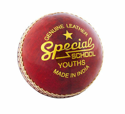6x Readers Special School Junior Leather Red Cricket Balls Size 4.75oz