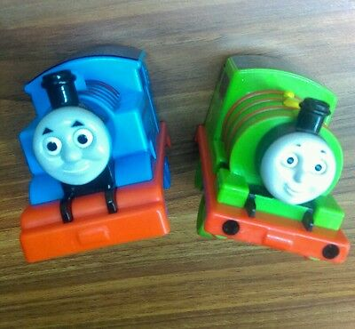 Thomas the tank engine and percy trains blue green kids toys