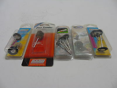 Set 5 ModelCraft - Bristle Wheel Brushes, Cutting Saw & Sander will Fit Dremel