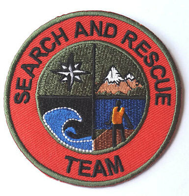 Search And Rescue Team Patch Mountain Support Coast Guard Air Helicopter Badge