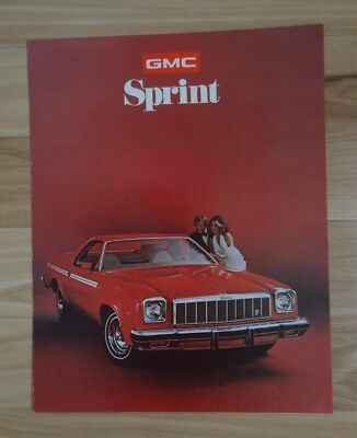 1975 GMC Sprint Sport Truck Color Sales Brochure - MINT New Old Stock