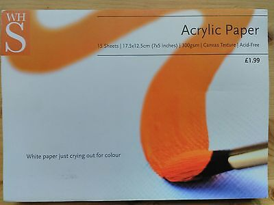 "14 x Acrylic Art Paper 7x5"" 300gsm Canvas texture supplier"