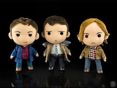 CW SUPERNATURAL Licensed DLX 3pc Angel CASTIEL SAM & DEAN Winchester PLUSH Set