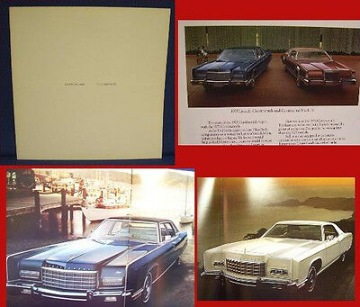 1973 LINCOLN Continental + Mark IV PRESTIGE Brochure - MINT New Old Stock