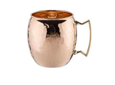 Old Dutch 16 Ounce Hammered Solid Copper Moscow Mule Mug with Brass Handle