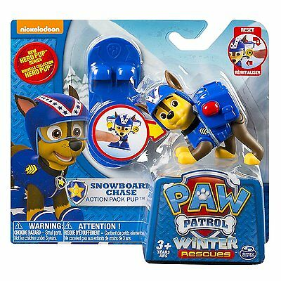 Paw Patrol Action Pack Pup & Badge Chase Winter Rescue Snowboard by Spinmaster