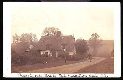 SAWTRY AREA c1905 PHOTOGRAPH POSTCARD People & House