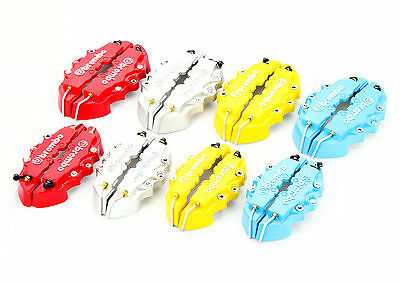 Yellow Small Size Brembo Style Universal Disc Brake Caliper Cover Front & Rear
