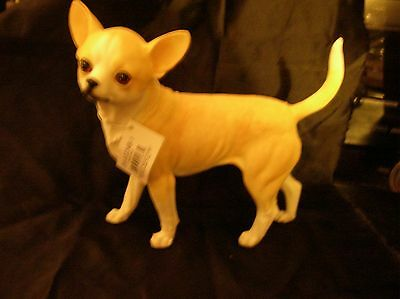 "dog figurine chihuahua male standing E&S Imports detail realistic 7.5"" x 7.5"""