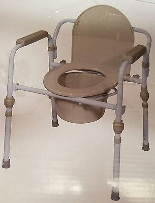 Drive Steel Folding Bedside Commode Senior Safety Chair Portable RTL11148KDR