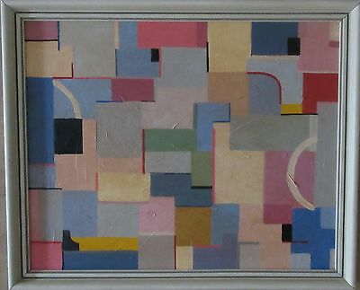 Abstract Oil Painting Vintage Retro Modern British Contemporary