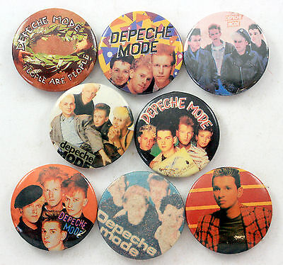 DEPECHE MODE Button Badges 8 x Vintage Depeche Mode Badges * PEOPLE ARE PEOPLE *