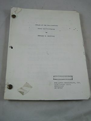 Vintage Movie Script #18 Attack of the Crab Monsters Charles B. Griffith Horror