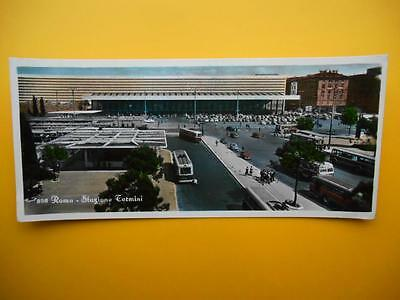 4 x Stazione Termini & City ROMA Rome Italy - Panorama RP c1950s Trolley Buses