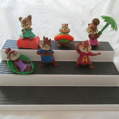 2011 Mcdonalds Alvin And The Chipmunks Squeakquel Chipwrecked Lot Set 6 Figures