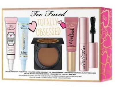 TOO FACED Totally Obsessed Kit Set Mascara Bronzer Lipgloss Primer NEU Limited