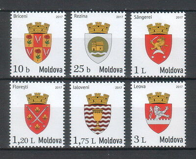 "Moldova 2017 ""Local Coats of Arms"" 6 MNH stamps"