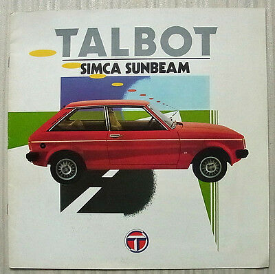 TALBOT SIMCA SUNBEAM LF Sales Brochure 1979-80 FRENCH TEXT   LS GL GLS LOTUS TI