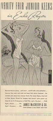 1937 James McCreery & Co Bra Panties Girls Fashion Vintage Magazine Ad