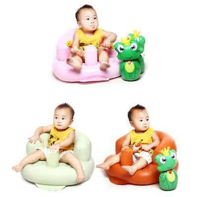 Portable Baby Inflatable Sofa Seat Sit Training Bath Dinning Chair Home Travel